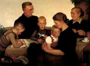 Adolf Wissel Peasant Family At Kahlenberg, 1939