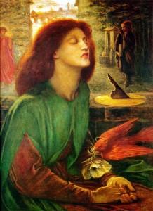"Dante Gabriel Rossetti, ""Beata Beatrix,"" 1864-1870"