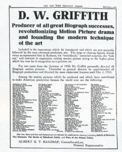 Trade ad, December 3, 1913
