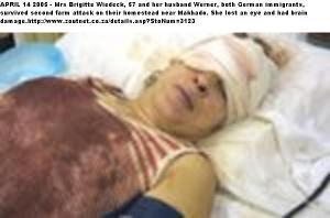 Wiedeck Mrs Brigitte 57 Makhado farm wife German survives attack hus Werner