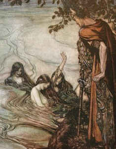 Siegfried and Rhinemaidens