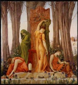 """William Blake Richmond, """"Electra at the Tomb of Agamemnon,"""" 1874"""