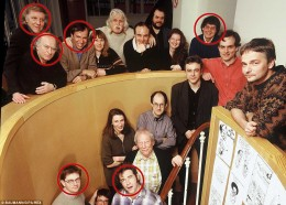 Charlie Hebdo staff  Victims of the massacre are circled in red.