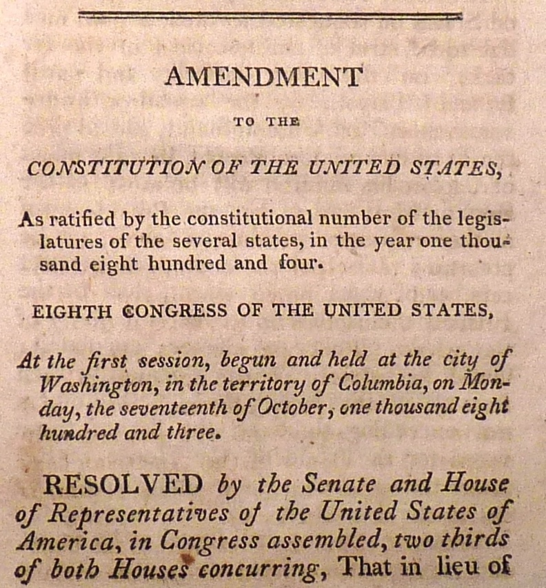 11th amendment to the constitution totally history - 792×852